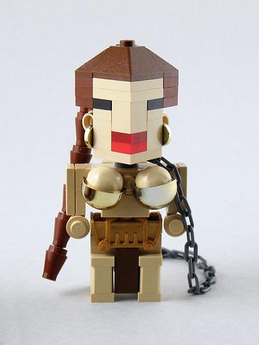 LEGO Star Wars Slave Leia CubeDude figure