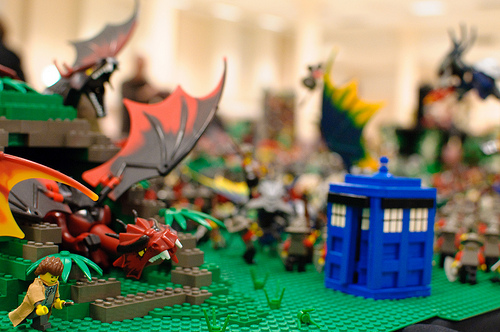 LEGO Doctor Who vs. Dragon