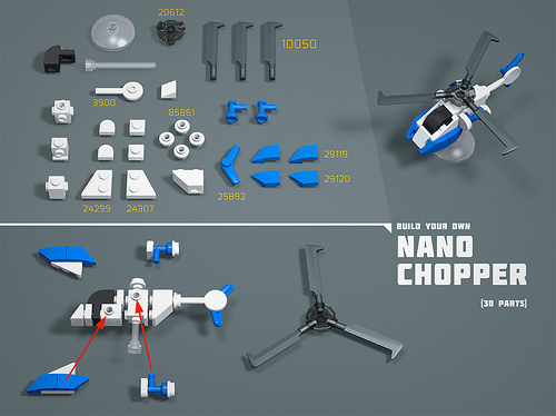 Nano Chopper LEGO MOC Nano Instructions
