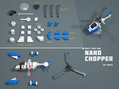 Nano Chopper LEGO MOC Nano Instructions