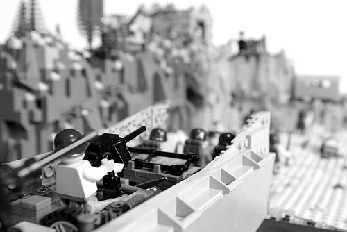 LEGO D-Day Normandy Robert Capa-esque