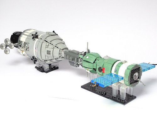 Apollo-Soyuz Test Project LEGO Model 1:32 scale