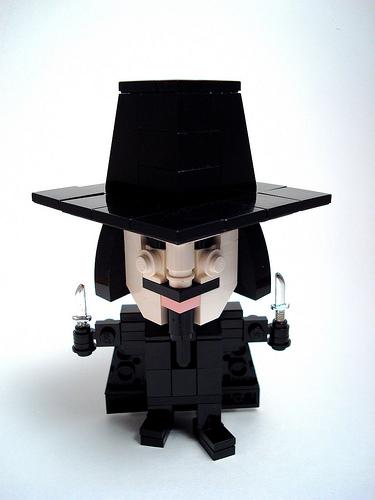 LEGO CubeDude Guy Fawkes