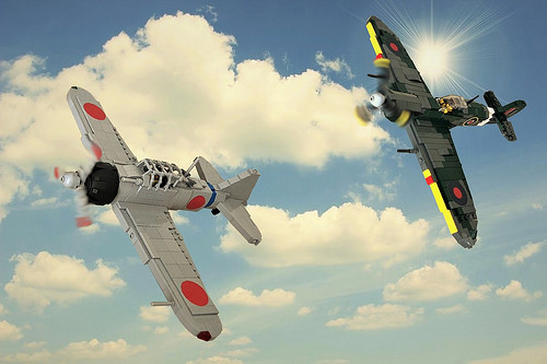 My Lego Spitfire Vs BM Zero Fighter