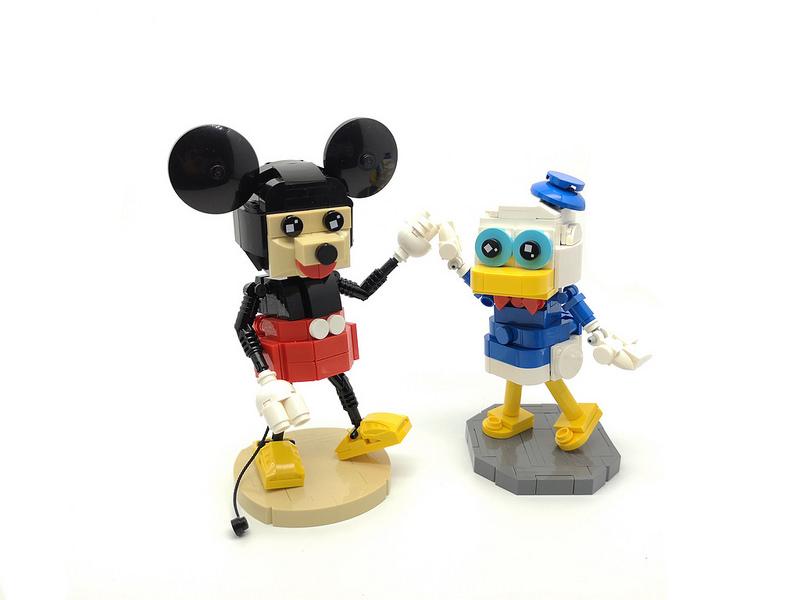 Friends #lego #moc #legophotography #disney #donaldduck #legocreation #mickeymouse