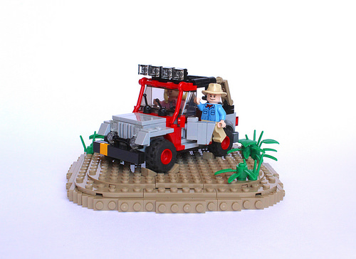 Jurassic Park Jeep with Alan Grant