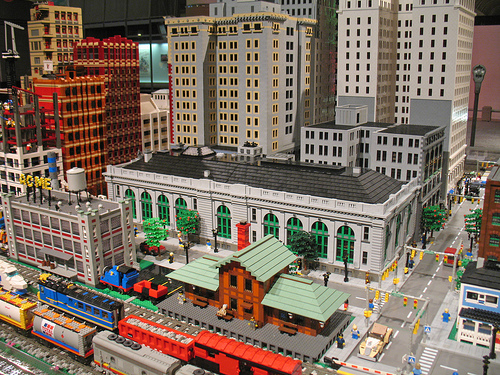 Lego City and train layout at The Henry Ford Museum