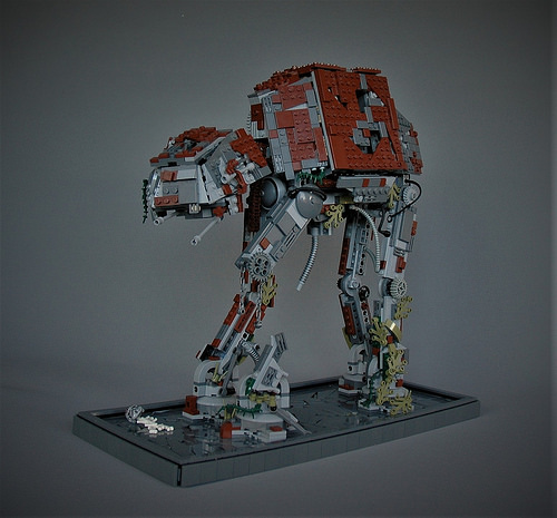 Abandoned old AT-AT - front left