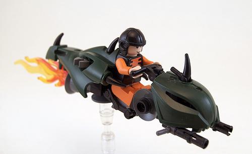 LEGO emerald speeder bike