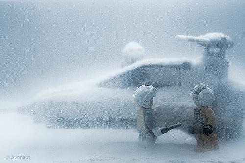 LEGO Star Wars rebel Y-wing on Hoth