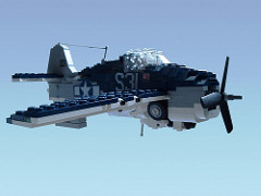 LEGO Wildcat fighter with retracted landing gear