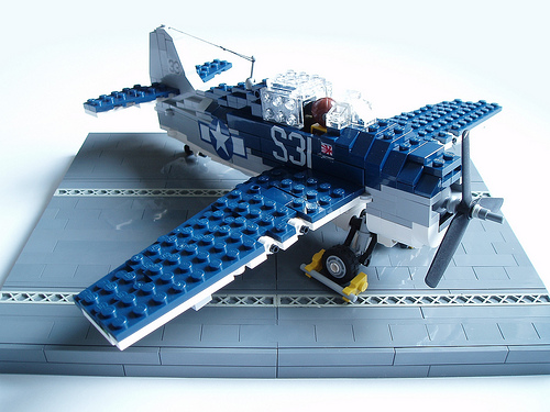 LEGO Grumman General Motors FM-1 F4F Wildcat World War II fighter