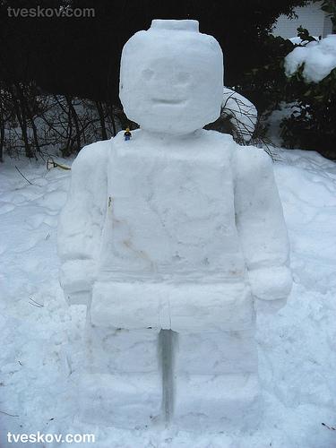 LEGO minifig snowman
