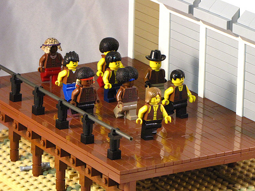 LEGO Shmails custom Warriors boardwalk