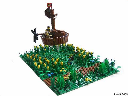 LEGO Liwnik stolen cows in flying tub