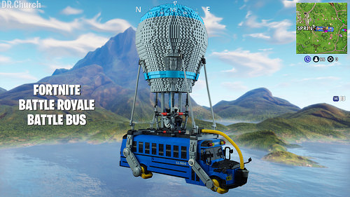 Prepare To Drop Into A Battle Royale In A Lego Fortnite Battle Bus