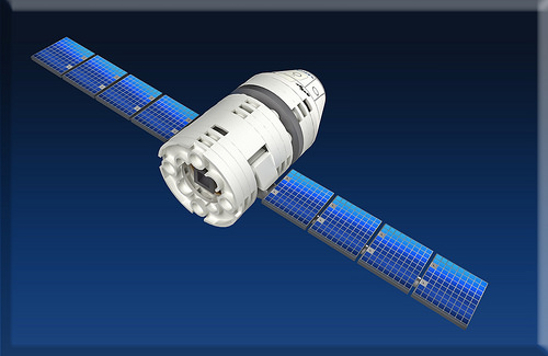 15 - New module 5 -Dragon 1 on space flight phase