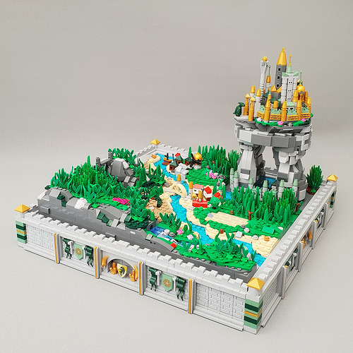 City of Zamorah - A micro scale castle and landscape