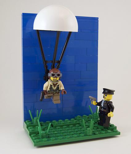 LEGO paratrooper