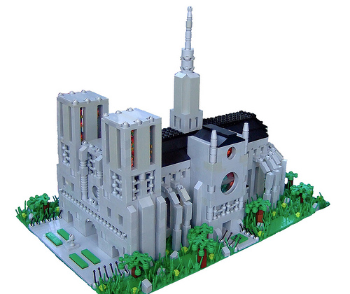 LEGO microscale Notre Dame Cathedral