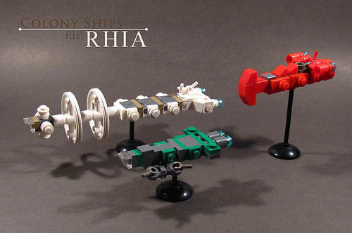 LEGO microscale spaceships