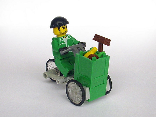 Lego Garbage Tricycle