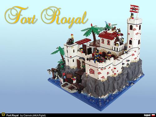 LEGO Piglet Ciamek Fort Royal
