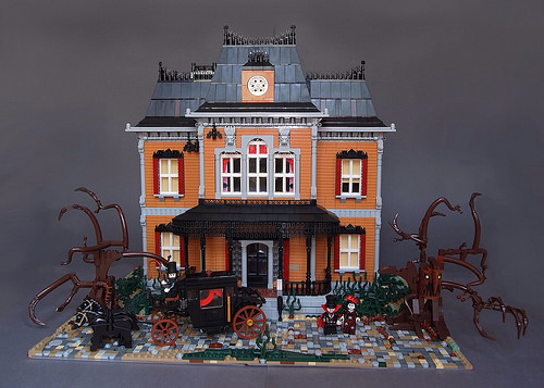 Victorian Haunted Mansion. Lord Vampire and his bride just arrived for theirs home. Photo by Dwalin Forkbeard
