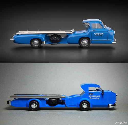 "1954 Mercedes Benz Race Car Transporter ""Blue Wonder"""