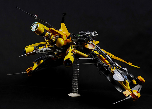 Lucifer class Vic Viper drone - rear left