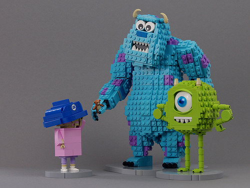 LEGO Mike, Sully, and Boo