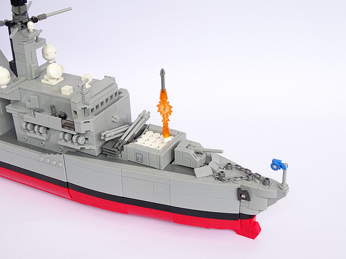 Type 23 Frigate, 1:200 Scale, LEGO Model, Chilean Navy