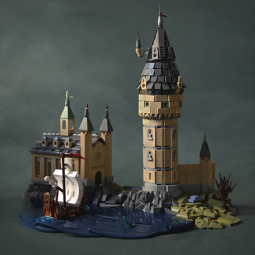 LEGO Durmstrang Ship and Hogwarts