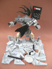 LEGO Metal Militia alien rocker sculpture