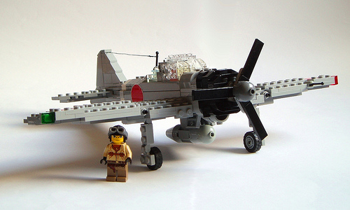 LEGO A6M3 Zero fighter plane