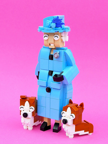 Queen Elizabeth II & The Royal Corgis.