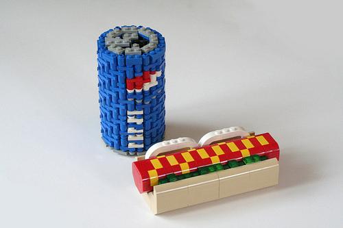 LEGO Pepsi and hotdog