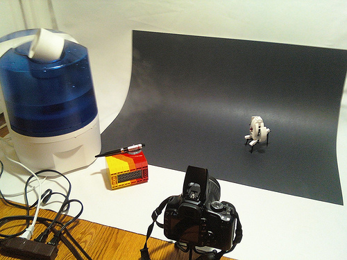 LEGO Portal turret laser photo setup