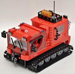 Rescue vehicle Pisten bully.(snowcat)