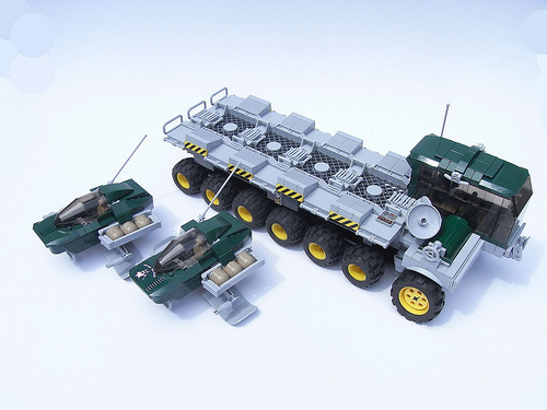 Ubix Aeroskimmer transport - deployed
