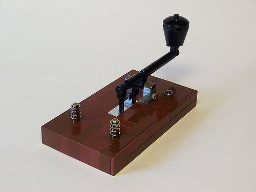 LEGO Morse Key by monsterbrick