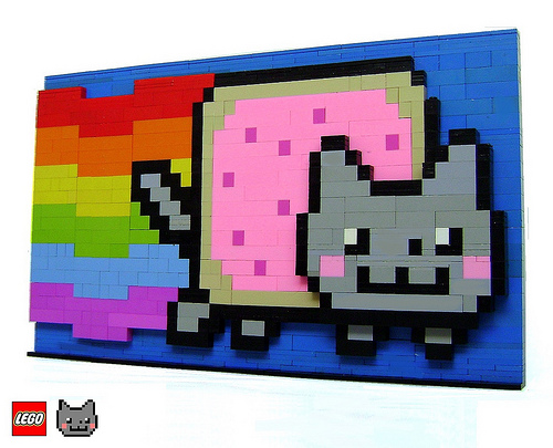 LEGO Nyan Cat 3D structure