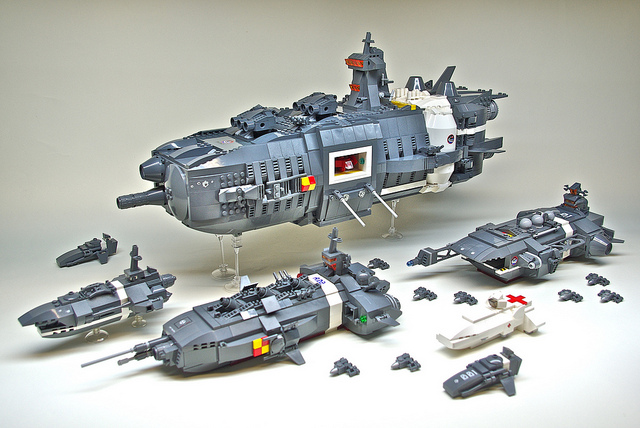 U.E.F. Battle Group - Microscale LEGO spaceships (1)