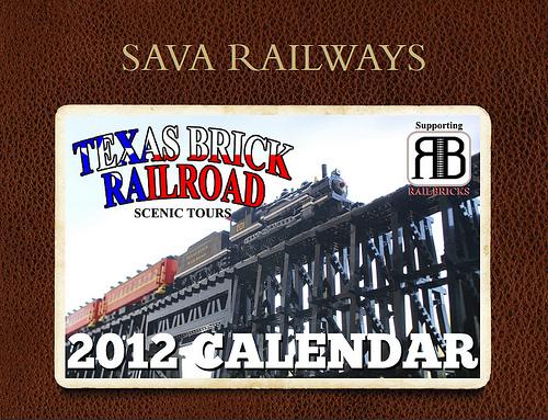 Sava Railways风景游览2012Lego®火车日历
