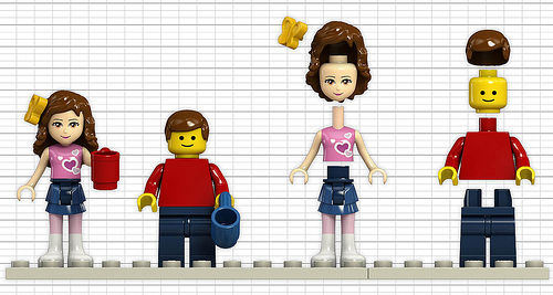 LEGO Friends vs.Minifigs