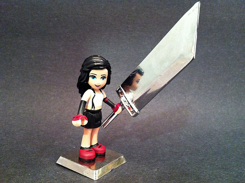 Tifa with buster sword