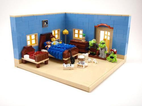 LEGO Human Conquest diorama