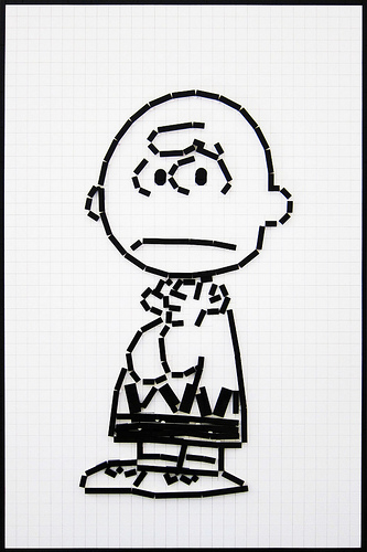 Lego Charlie Brown by Mark Anderson