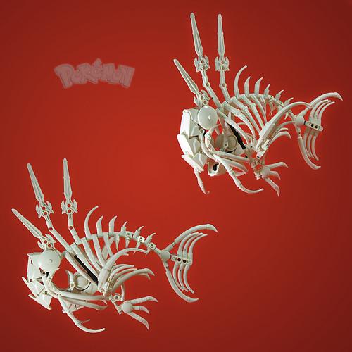 Commission 2/3: Magikarp Skeleton
