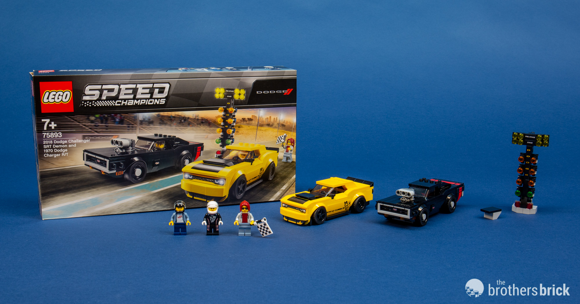 Lego Speed Champions 75893 2018 Dodge Challenger Srt Demon And 1970 Dodge Charger R T Review The Brothers Brick The Brothers Brick